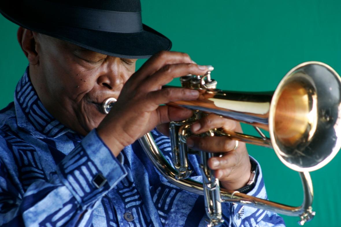 Hugh Masekela.  credit Brett Rubin - Afro Jazz (3)