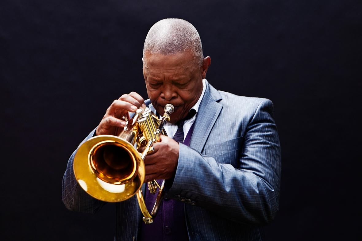 Hugh Masekela.  credit Brett Rubin - Afro Jazz (5)